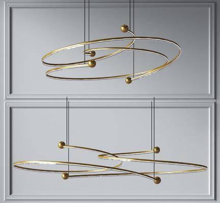 现代创意金属发光吊灯