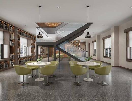 现代图书馆, 工装, 会议室