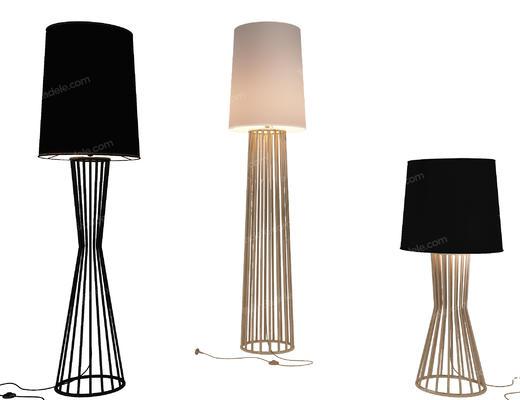 落地灯, 台灯, 现代, 灯具, 灯