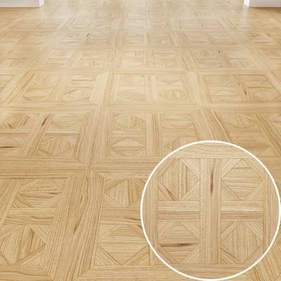 木拼花, 地板