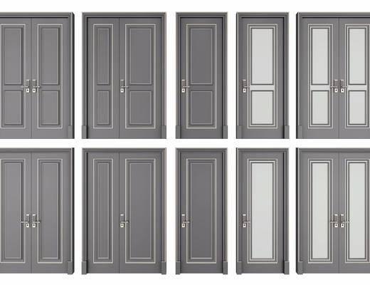 双开门, 平开门, 门组合, 子母门, 新中式