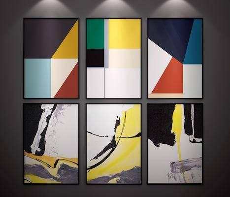 现代挂画, 现代装饰画, 北欧挂画, 北欧装饰画, 抽象画, 现代, 装饰画, 挂画