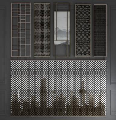 金属屏风, 隔断组合, 雕花屏风, 折叠屏风, 花格屏风, 镂空屏风, 新中式