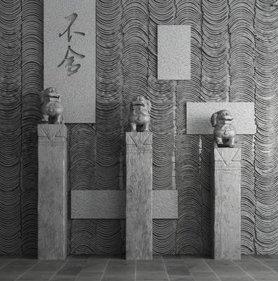 雕塑, 石雕, 雕像, 中式雕塑