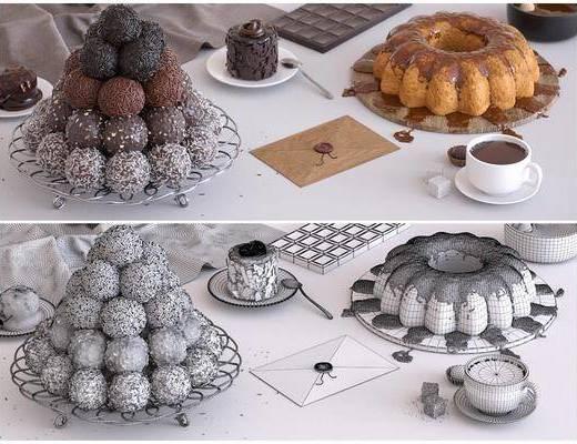 巧克力蛋糕, 巧克力, 咖啡, 现代