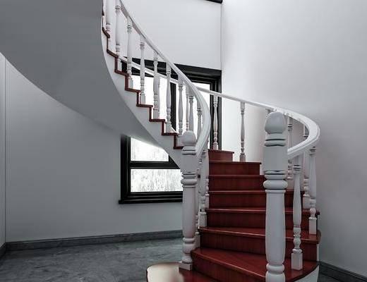 旋转楼梯, 楼梯