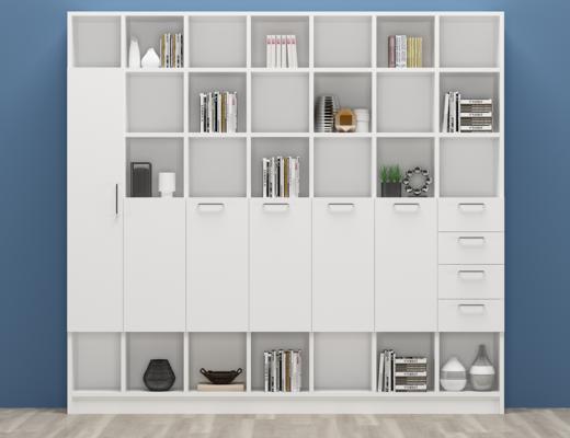 现代书柜, 书架, 书籍