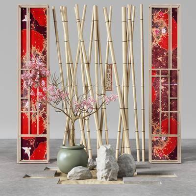 中式, 园艺, 小品, 组合