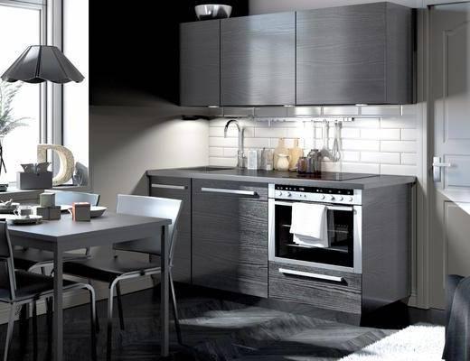 厨房用品, 洗手台, 餐桌, 餐椅, 单人椅, 吊灯, 现代
