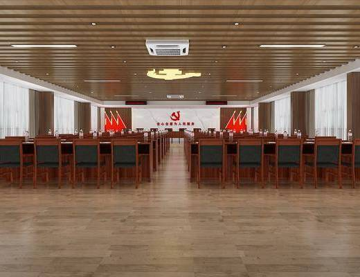 会议室, 会议桌, 办事大厅, 窗口, 吊灯