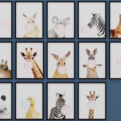 现代动物装饰画, 壁画, 挂画