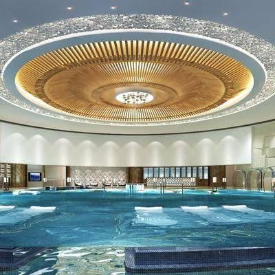 现代温泉中心水疗馆, 现代, 温泉, 水疗, 吊灯