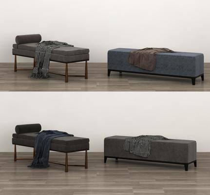 现代沙发凳, 沙发凳组合, 床尾凳