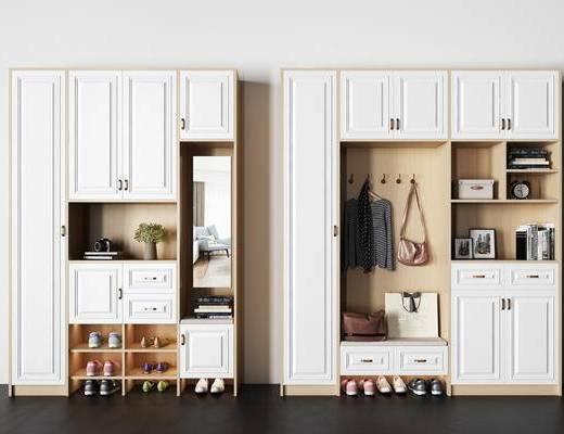 镜子, 柜子, 拉手, 书籍, 植物, 相机, 闹钟, 包, 鞋子, 衣服