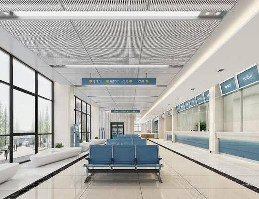 银行大厅, 等候厅, 办事大厅, 前台, 柜台