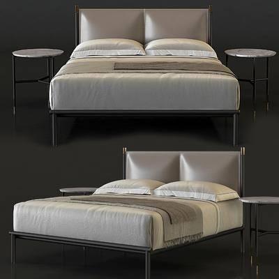 双人床, 边几, 现代