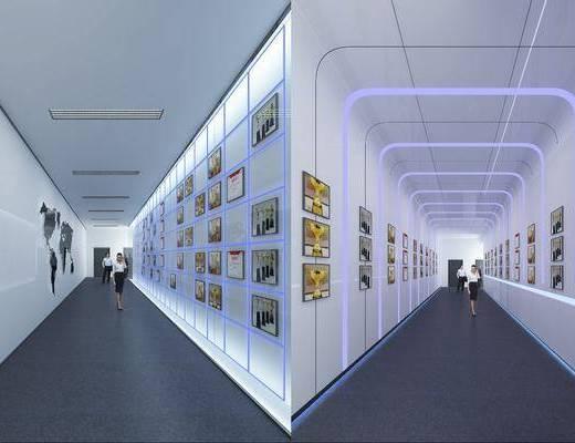 科技走廊, 走廊过道, 照片墙, 人物, 现代