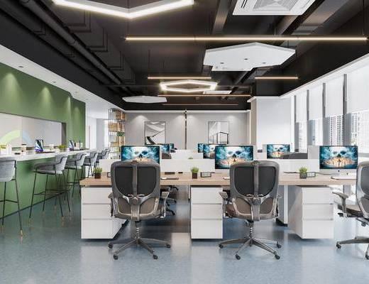 现代, 办公区, 工装