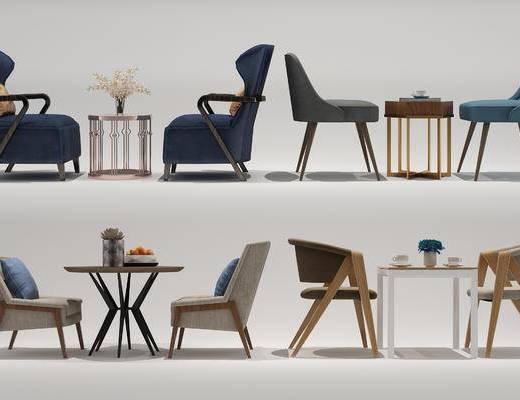 现代, 休闲, 桌椅