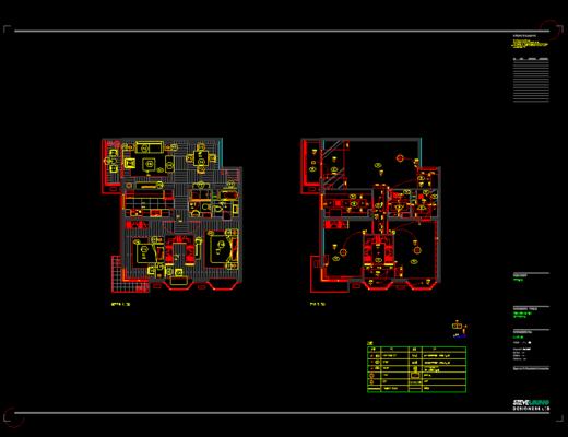 CAD, 施工图, 家装施工图, 平面图, 立面图