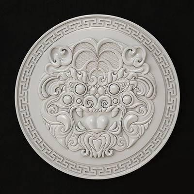 石膏, 构件, 雕塑, 中式