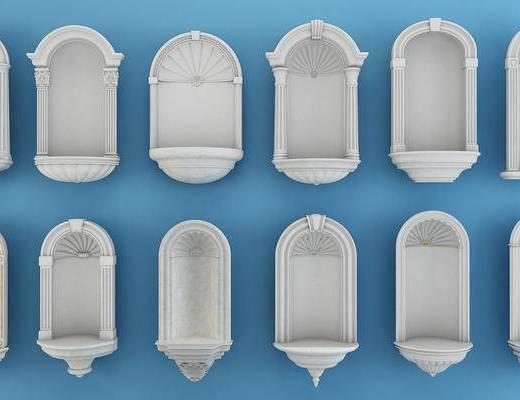 欧式壁龛, 欧式构件, 壁龛