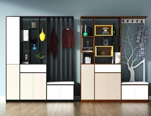 玄关柜, 玄关, 鞋柜, 装饰柜, 边柜, 隔断柜