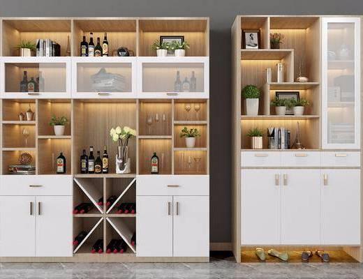 酒柜, 装饰柜, 酒柜组合, 鞋柜, 摆件组合, 北欧