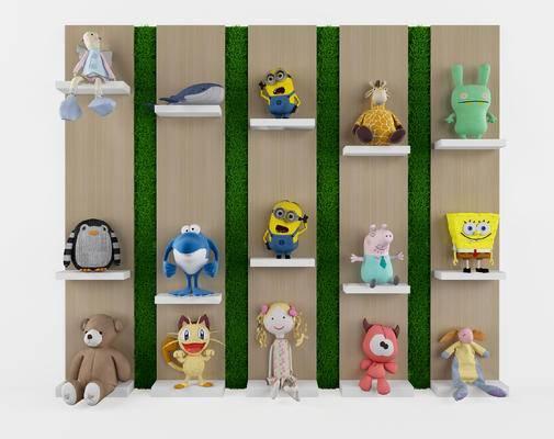 玩具, 玩偶, 小黄人, 玩偶墙, 现代