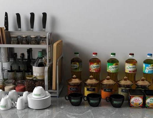 調料組合, 調料瓶, 裝飾架, 現代