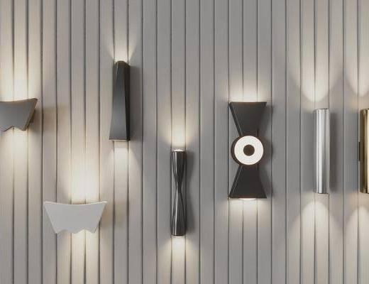 现代, 壁灯, 组合