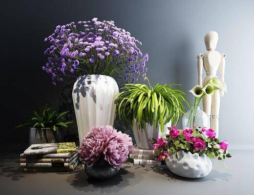 装饰, 摆件, 花瓶组合, 花艺