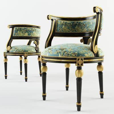 单椅, 单人椅, 凳, 欧式, 古典