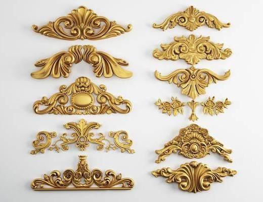 雕花, 金属, 欧式雕花