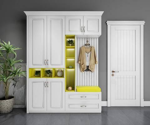 衣柜, 鞋柜, 装饰柜, 柜, 现代