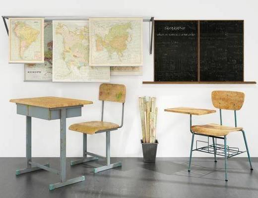 现代风格学校桌椅