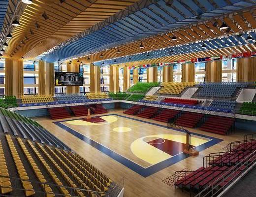 体育馆, 篮球馆, 现代, 篮球场