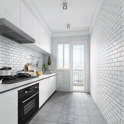 简约厨房, 现代厨房, 厨房, 厨房橱柜