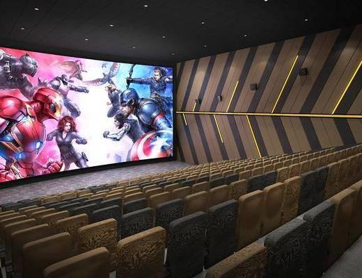 影院, 单人椅, 现代