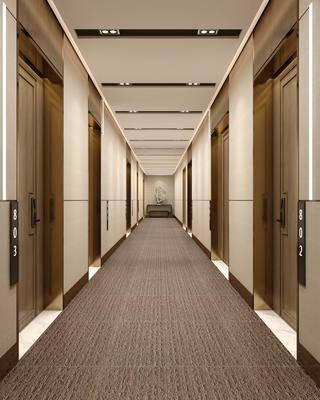 现代, 走廊, 工装