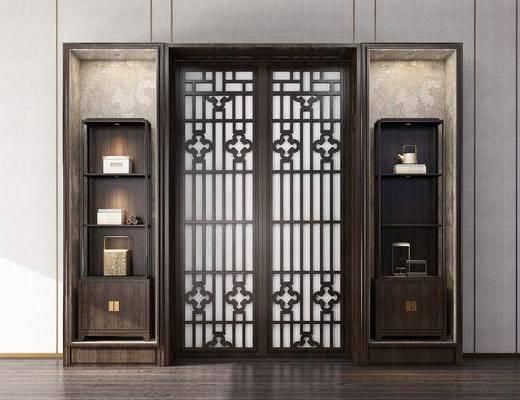 装饰柜, 餐厅柜, 摆件, 装饰品, 陈设品, 新中式