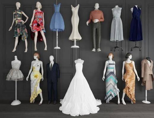 模特, 服装, 现代服装模特
