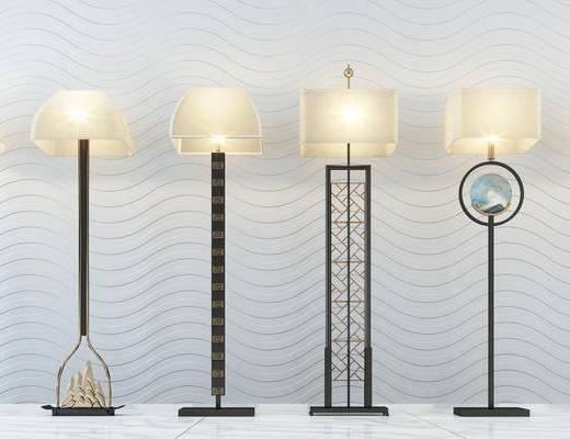 灯具组合, 落地灯, 灯具, 灯饰