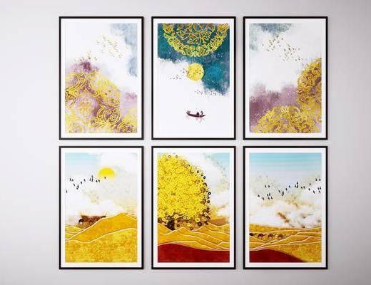 挂画, 艺术画, 风景画, 装饰画