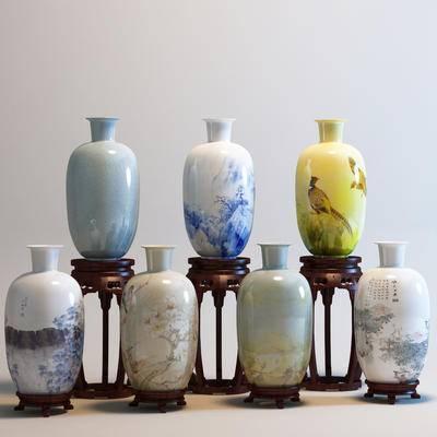 中式, 花瓶, 罐子
