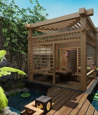 中式庭院, 庭院, 涼亭