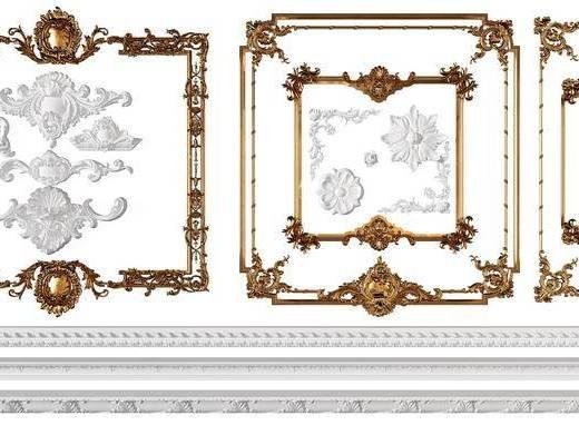 线条构件, 构件角线, 雕花组合, 欧式