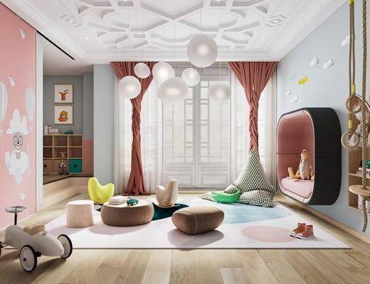 现代, 休闲区, 家装