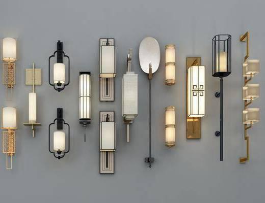 壁灯组合, 新中式