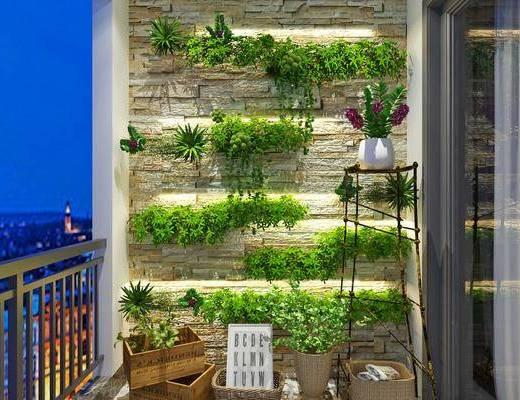 植物墙, 绿植, 装饰品